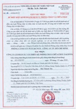 Bảng báo giá thiết bị phòng cháy chữa cháy