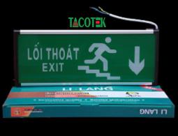Đèn exit 2 mặt chỉ hướng xuống Lilang XA-ZAZD-E3WA